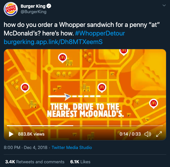 Burger King Whopper Detour Campaign